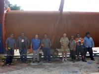 Fern XCMG Crane, Andrew  Supervisior Jim Ceo, Blackie Fork Lift, Kristan Aitchison, Alwyn Fitter, Caasi Welder, Erro Welder.