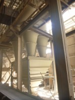The new set of cyclones for B Kiln now in operation on the primary circuit of dust removal.