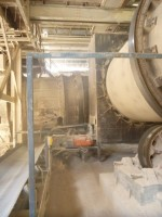 The B Kiln discharge conveyor and the DB conveyor at left that takes the dried rock to the storage bin.